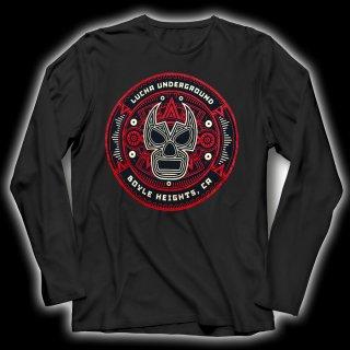 【LUCHA UNDERGROUND】AZTEC LU LOGO BLACK 長袖Tシャツ