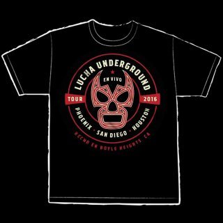 【LUCHA UNDERGROUND】LUCHA EN VIVO BLACK Tシャツ