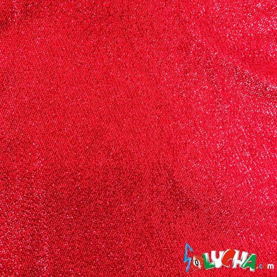 エラスラメ生地(コリアンラメ・赤) 1m / Stretch Lame Red 1m