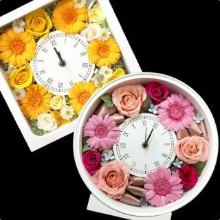 贈呈用プリザーブドフラワー「花時計」