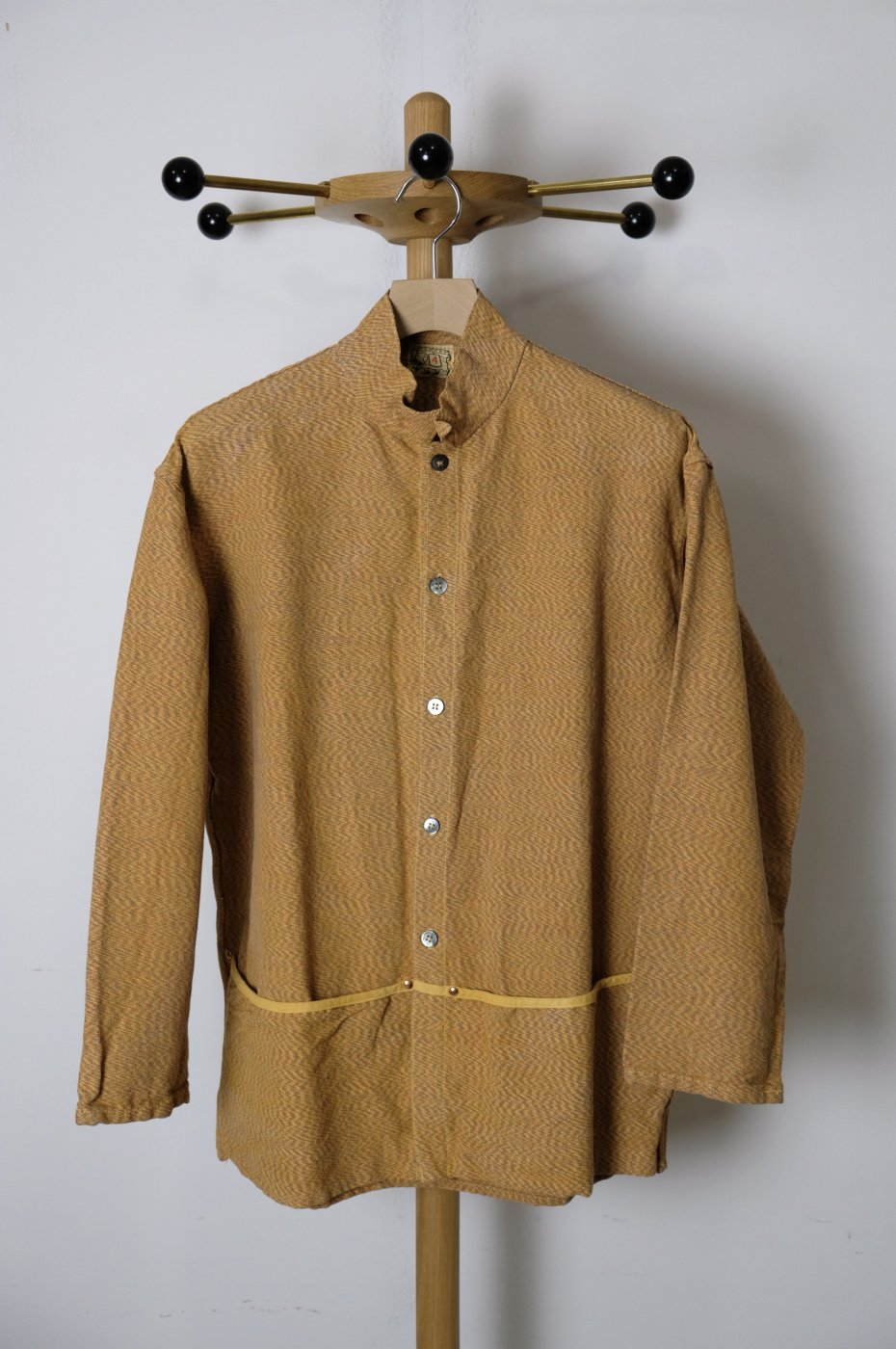 TENDER Co. 17AW-Type 440Folded Pocket Shirt/Yellow Ochre-men's
