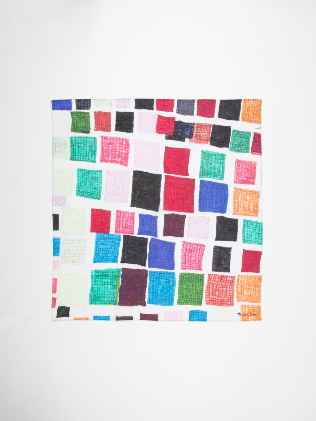 HERALBONY -ART HANDKERCHIEF- Sanae Sasaki -NO TITLE -WHITE-