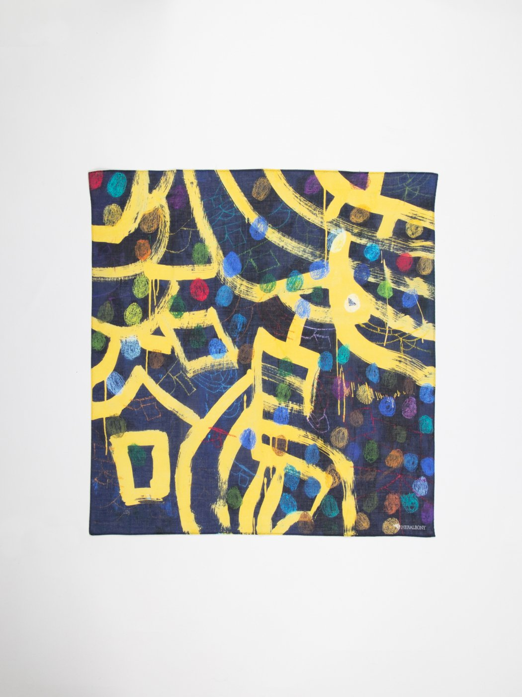 HERALBONY -ART HANDKERCHIEF- Satoru Kobayashi -新石鳥谷音頭-