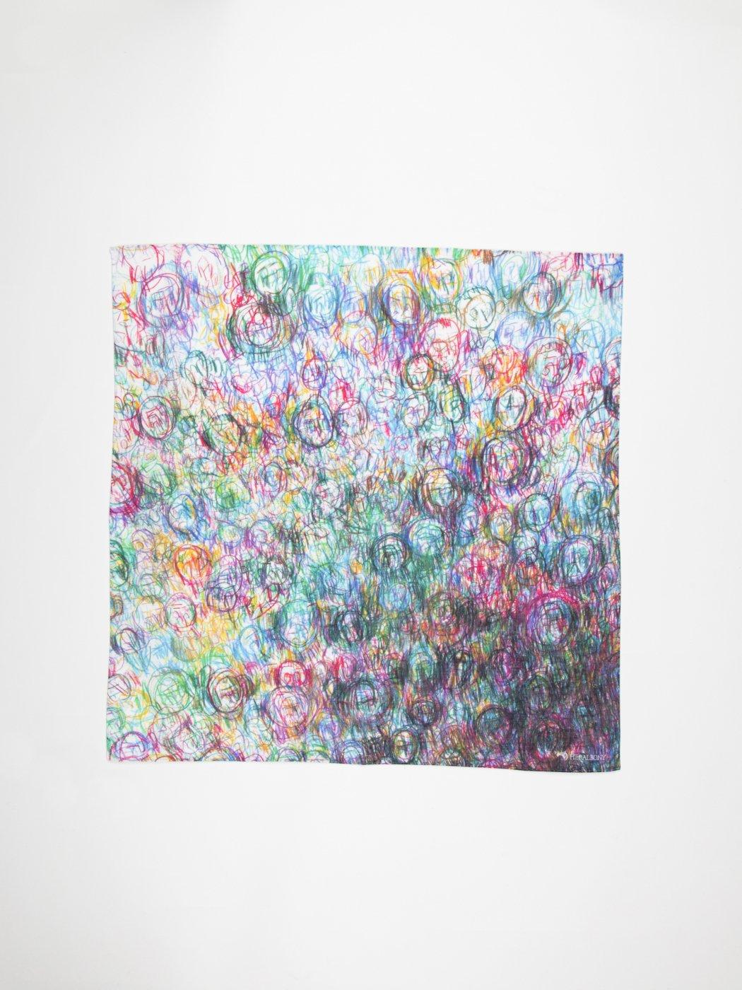 HERALBONY -ART HANDKERCHIEF- Fujiko Tomisawa  -NO TITLE-