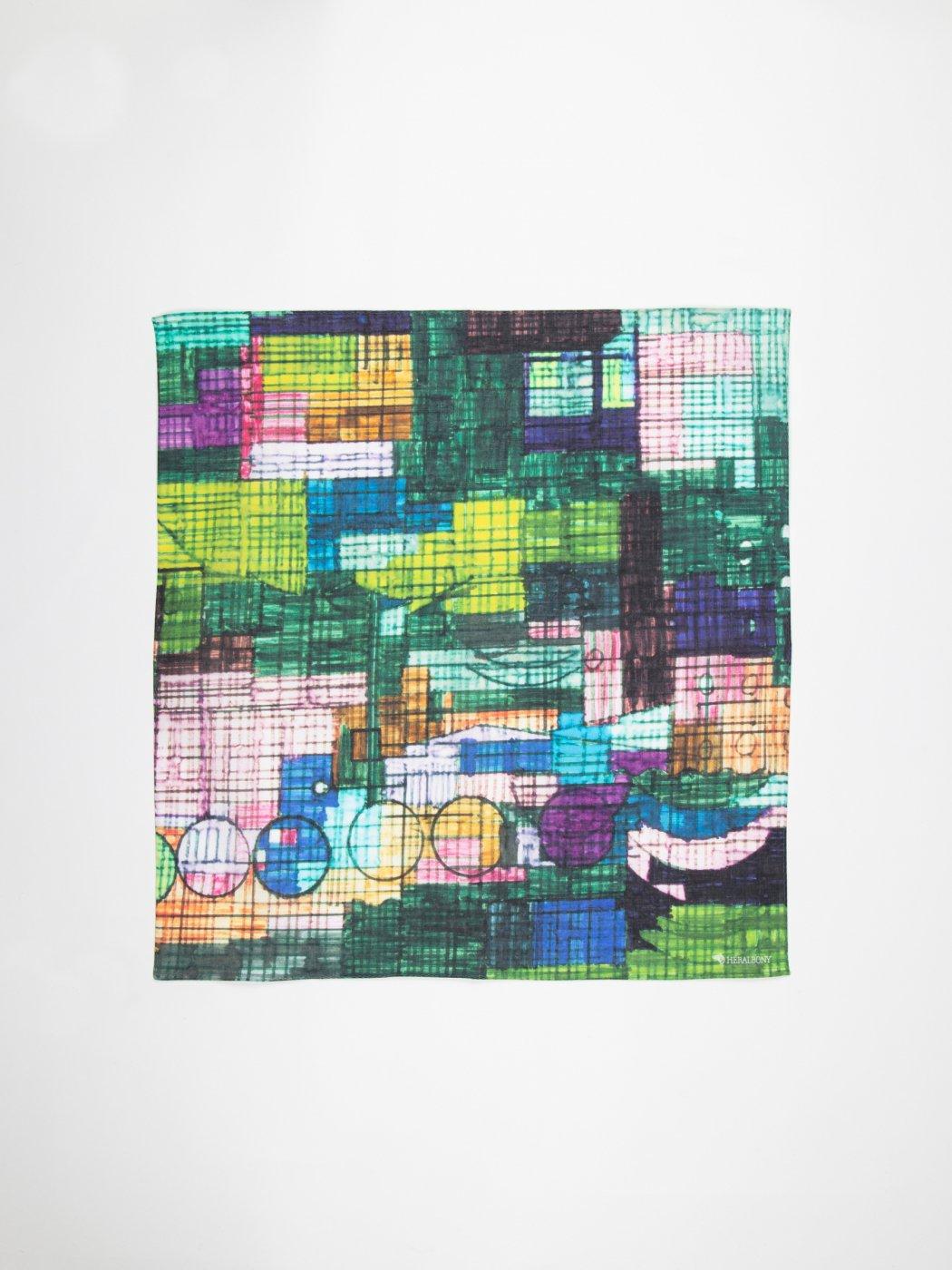 HERALBONY -ART HANDKERCHIEF-Kiyoshi Yaegashi-NO TITLE(CAR)-
