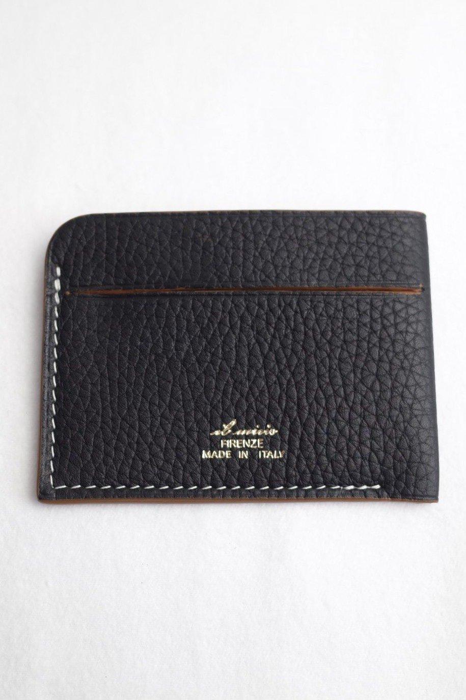 il micho -Card case Bull×Suede/BLACK-