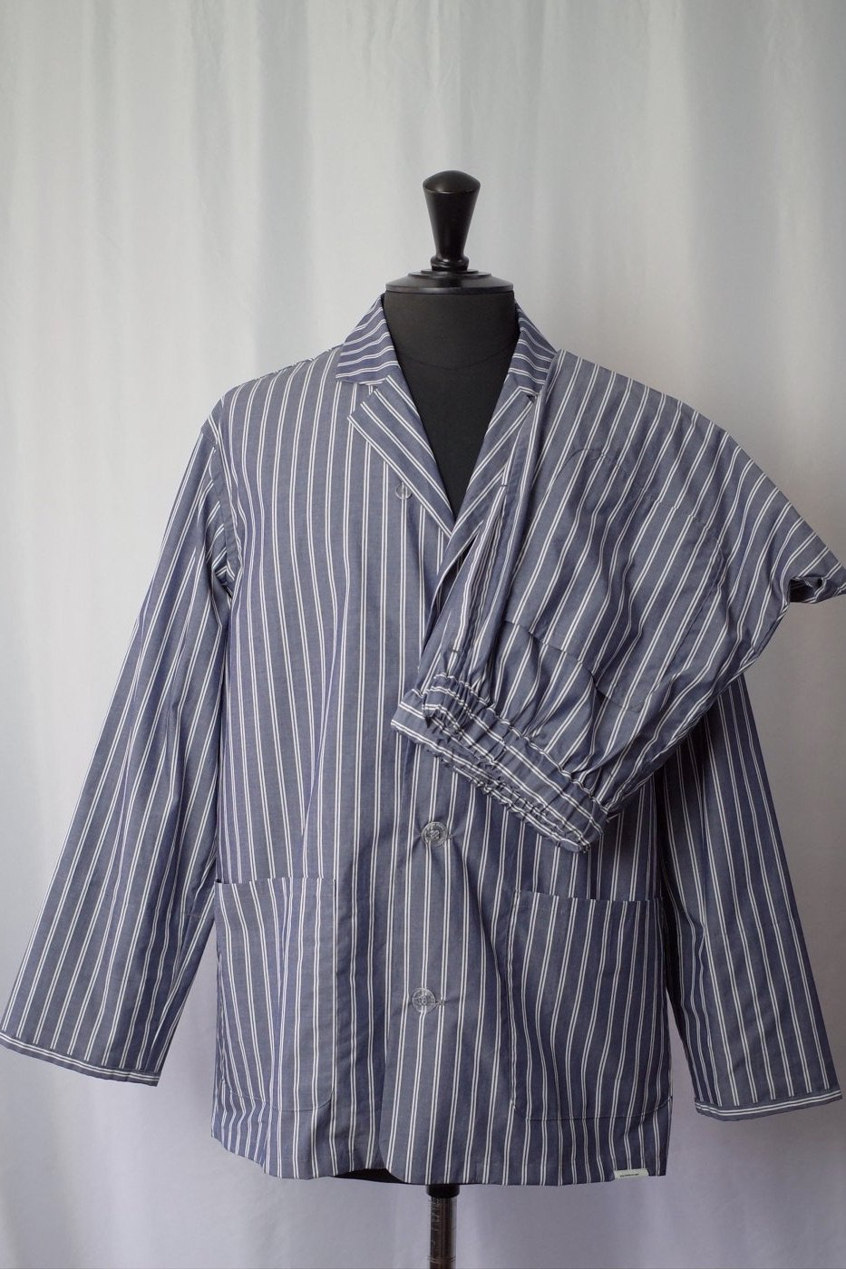 NOWHAW ノウハウ-DAY PAJAMA -NAVY W STRIPE-