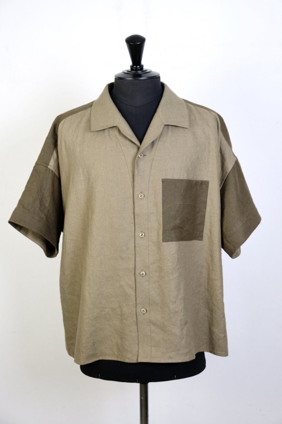 Gorsch the seamster ゴーシュザシームスター -Over Shirt/BEIGE×OLIVE-