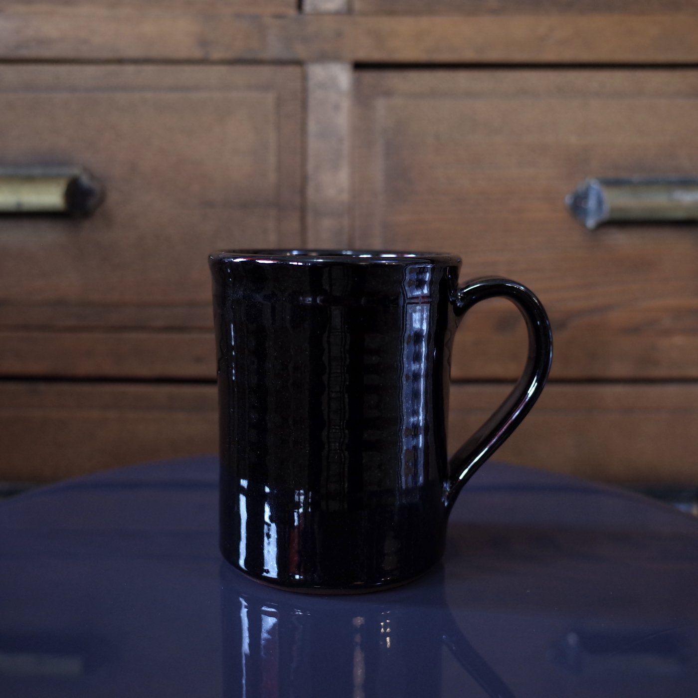 TENDER Co. テンダー-HAND THROWN COFFEE MUG-BLACK-