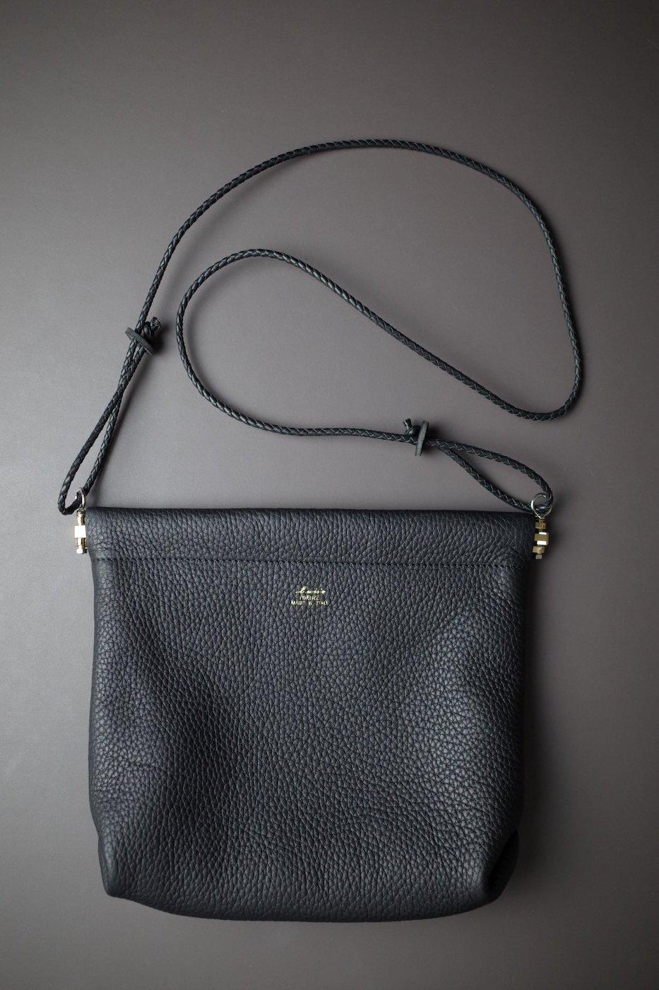 il micho イル・ミーチョ -SMALL LEATHER BAG-BLACK