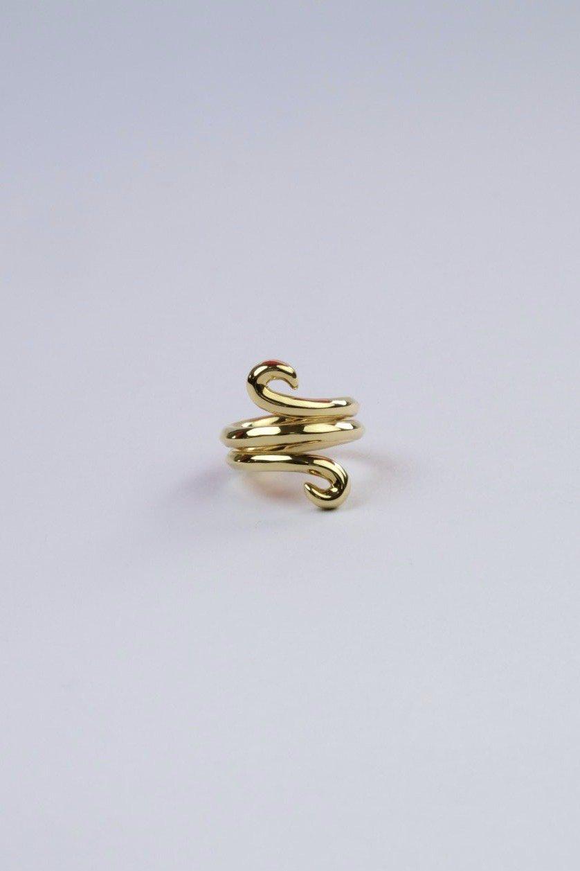 R.ALAGANララガン-VINE FICKLE RING-GOLD