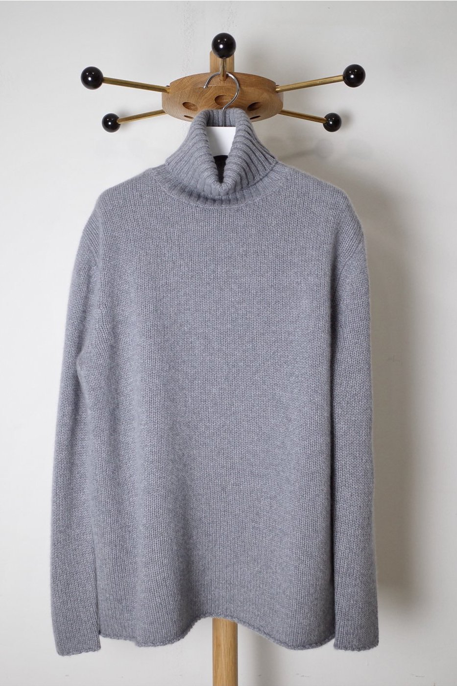 PICEA(ピセア) -BABY CASHMERE HIGH NECK-GRAY-WOMEN'S