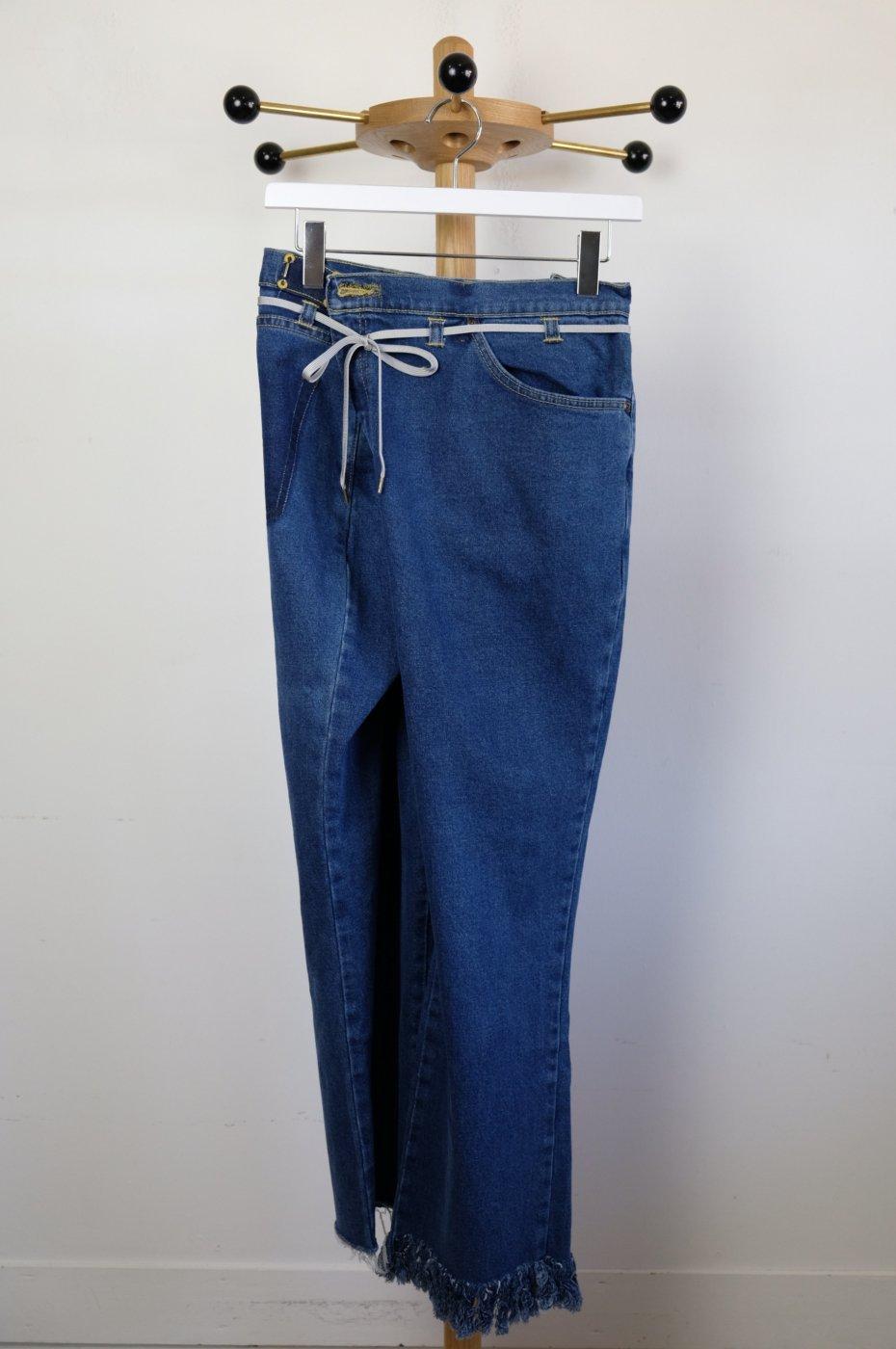 MAISON EUREKA メゾンエウレカ-VINTAGE REWORK BIGGY PANTS-BLUE-#5