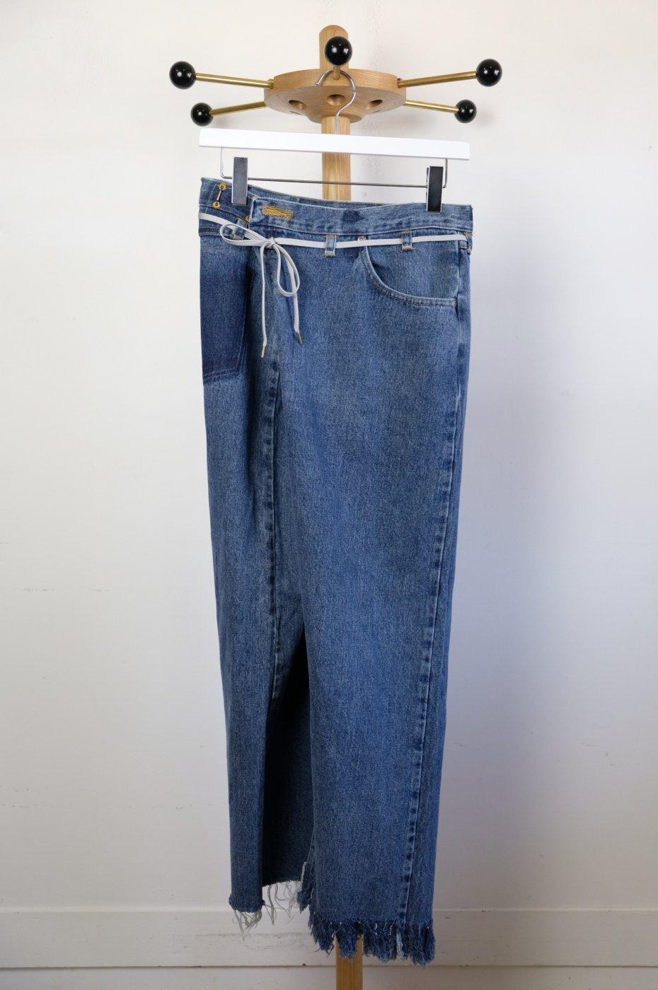 MAISON EUREKA メゾンエウレカ-VINTAGE REWORK BIGGY PANTS-BLUE-#4