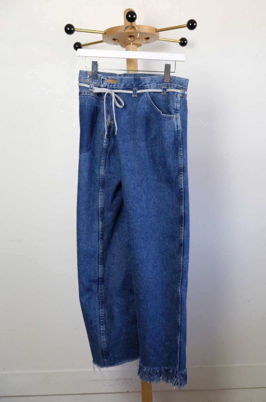 MAISON EUREKA メゾンエウレカ-VINTAGE REWORK BIGGY PANTS-BLUE-#3