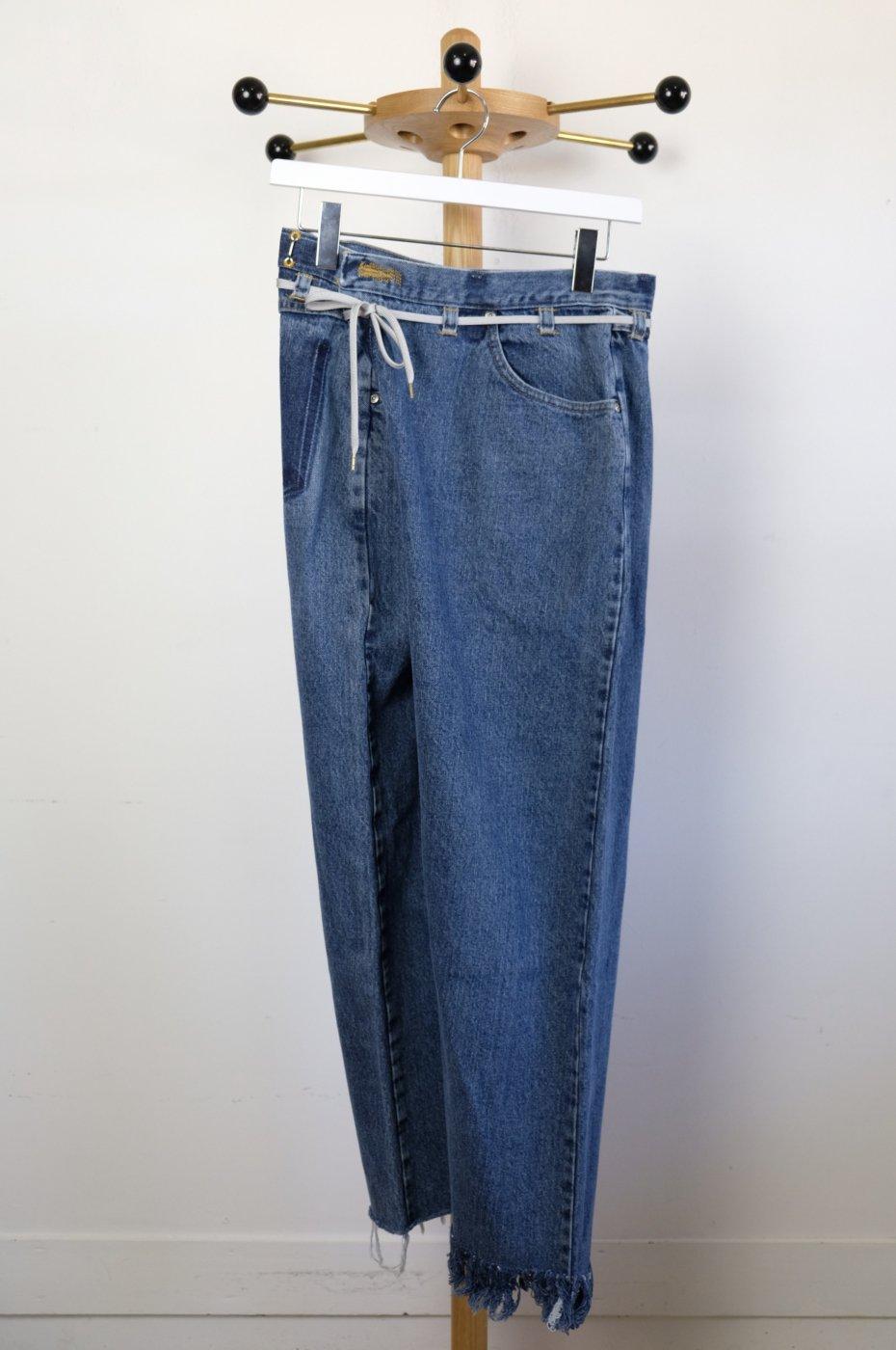 MAISON EUREKA メゾンエウレカ-VINTAGE REWORK BIGGY PANTS-BLUE-#2