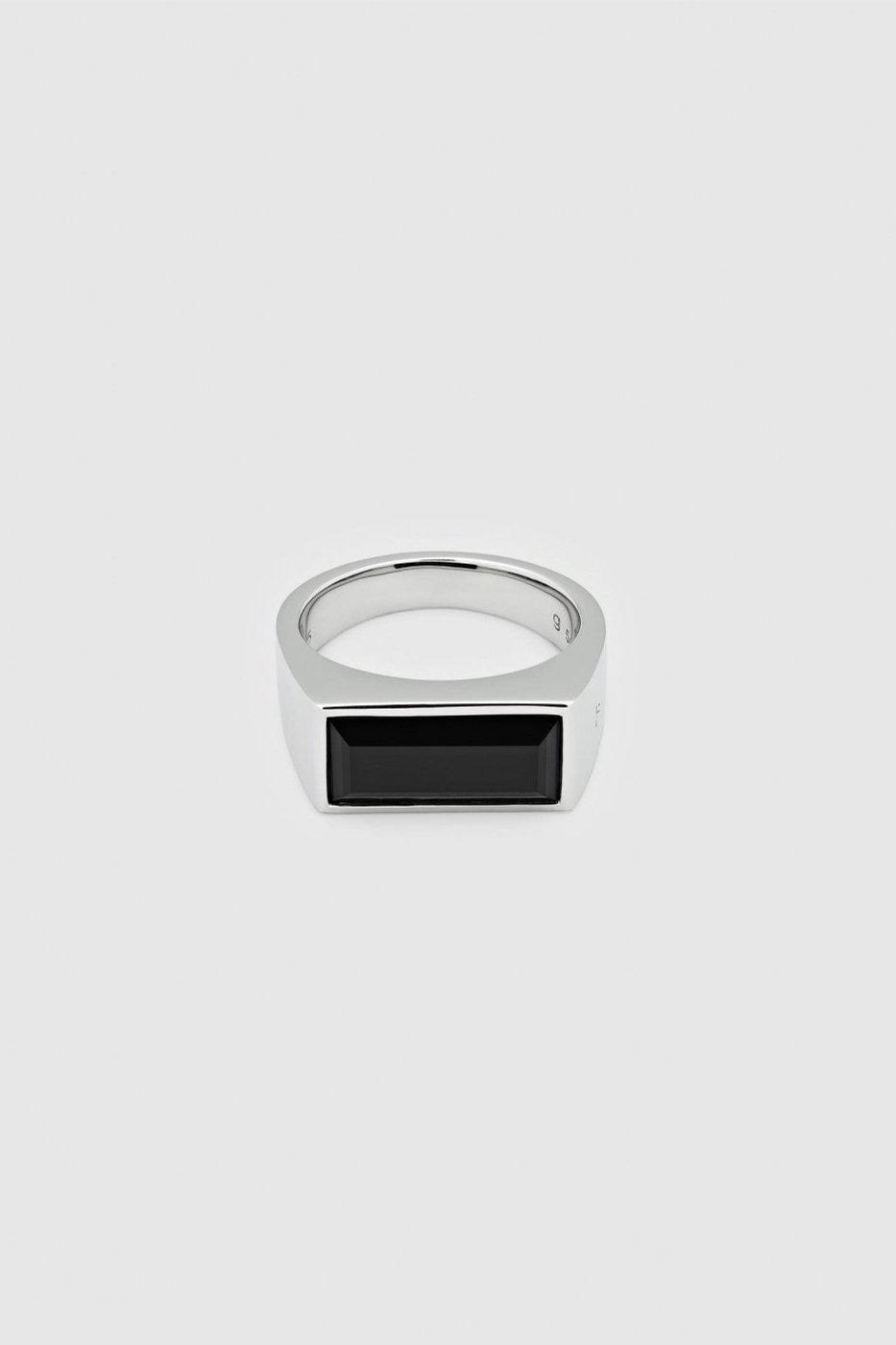 TOM WOOD トムウッド-Peaky Ring Polished Onyx-