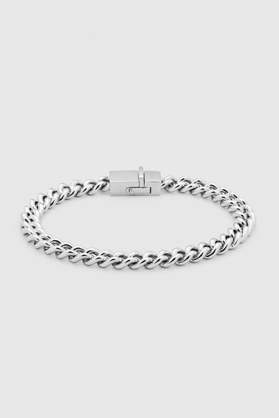 TOM WOOD トムウッド-Rounded Curb Bracelet Thin Silver-