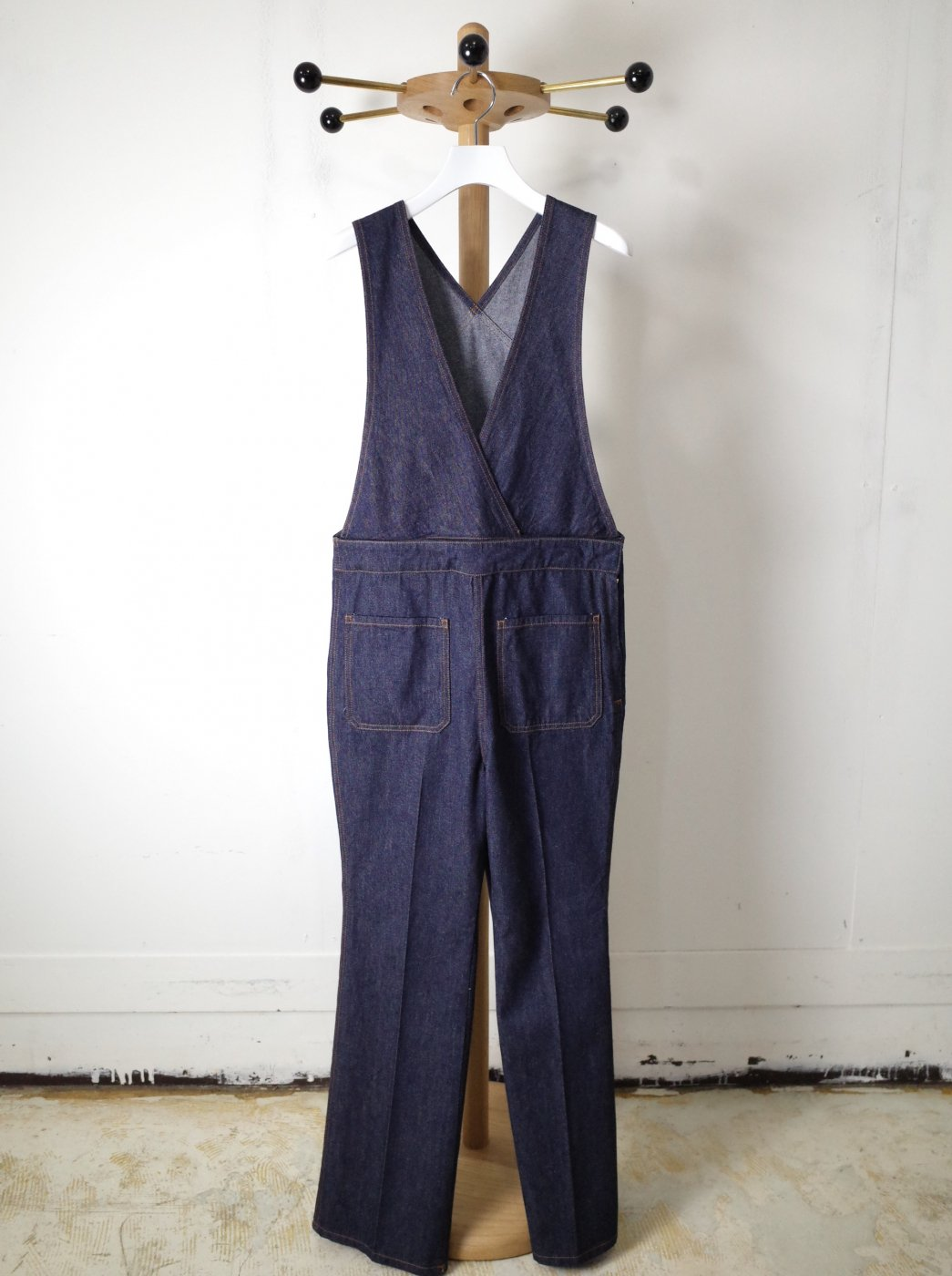 <img class='new_mark_img1' src='https://img.shop-pro.jp/img/new/icons8.gif' style='border:none;display:inline;margin:0px;padding:0px;width:auto;' />CURRENTAGE-DENIM OVERALL-INDIGO BLUE-