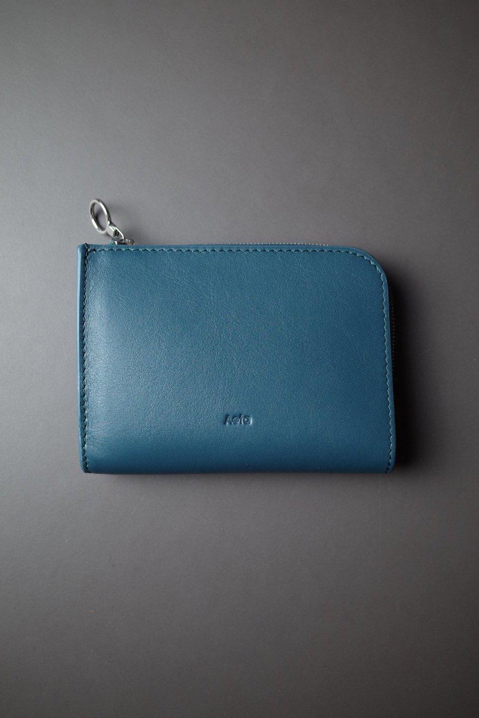 Aeta アエタ-FG16 WALLET typeB -BLUE GREEN