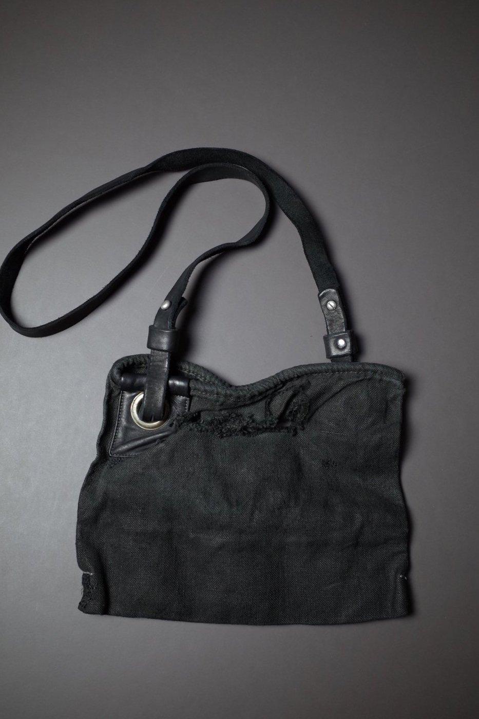DELLE COSE デレコーゼ-SMALL SIZE SHOULDER BAG-BLACK-