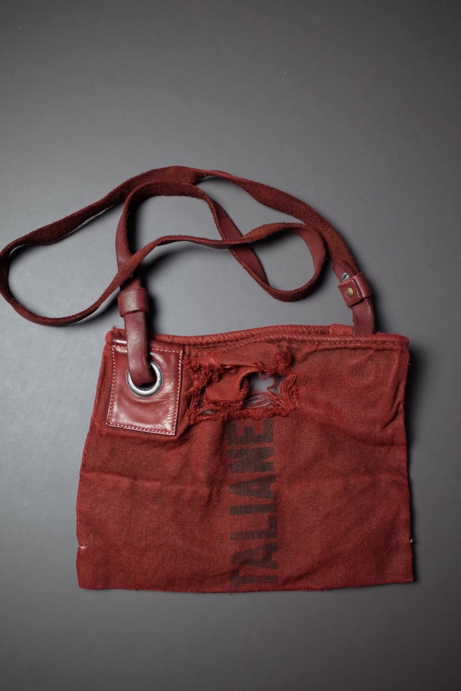 DELLE COSE デレコーゼ-SMALL SIZE SHOULDER BAG-RED-