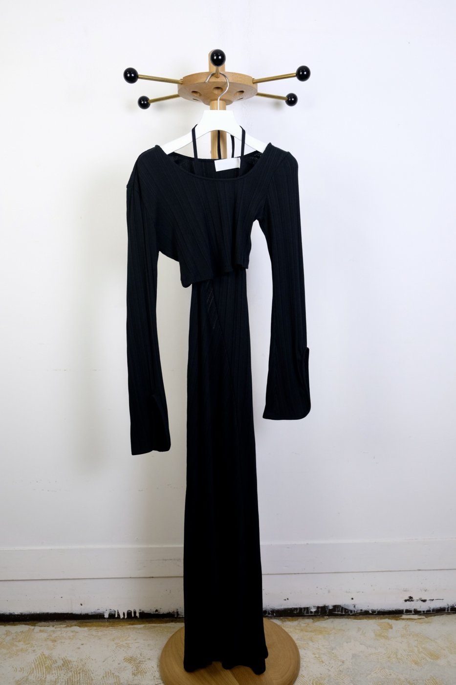 Mame Kurogouchi マメクロゴウチ- RIBBED JERSEY MULTI WAY DRESS-BLACK