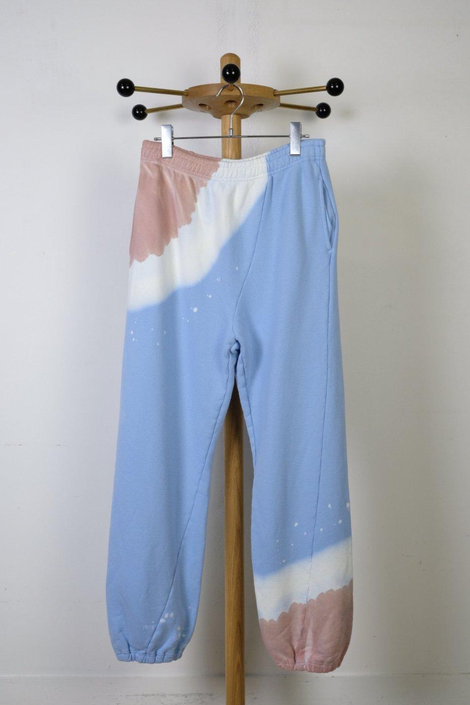 NOMA t.d. -ノーマティーディ-HAND DYE TWIST PANTS-LT BLUE×BURGUNDY