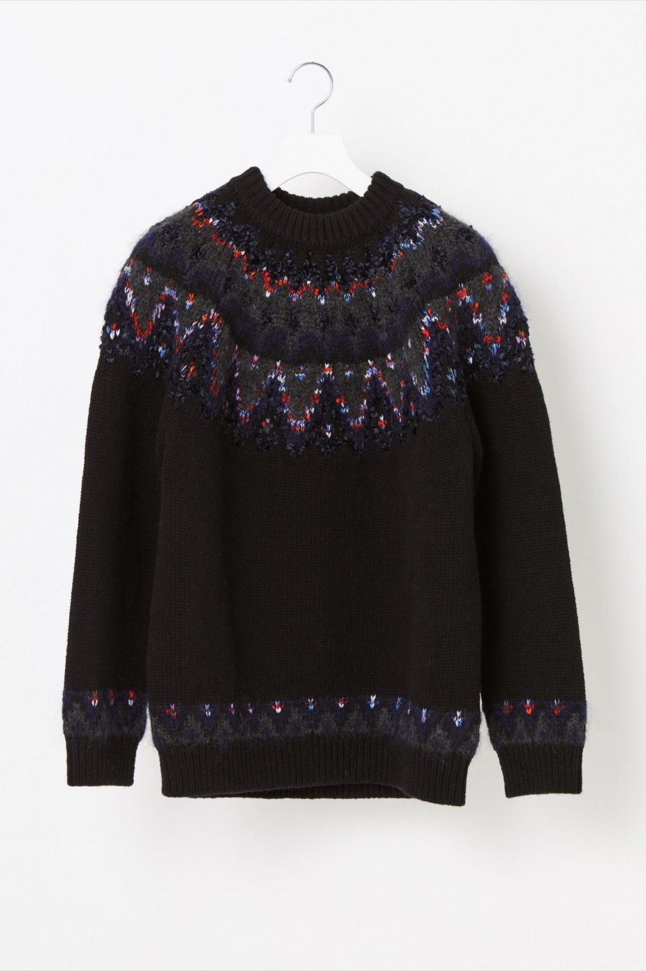 <img class='new_mark_img1' src='https://img.shop-pro.jp/img/new/icons8.gif' style='border:none;display:inline;margin:0px;padding:0px;width:auto;' />COOHEM コーヘン-NORDIC KNIT SWEATER-BLACK