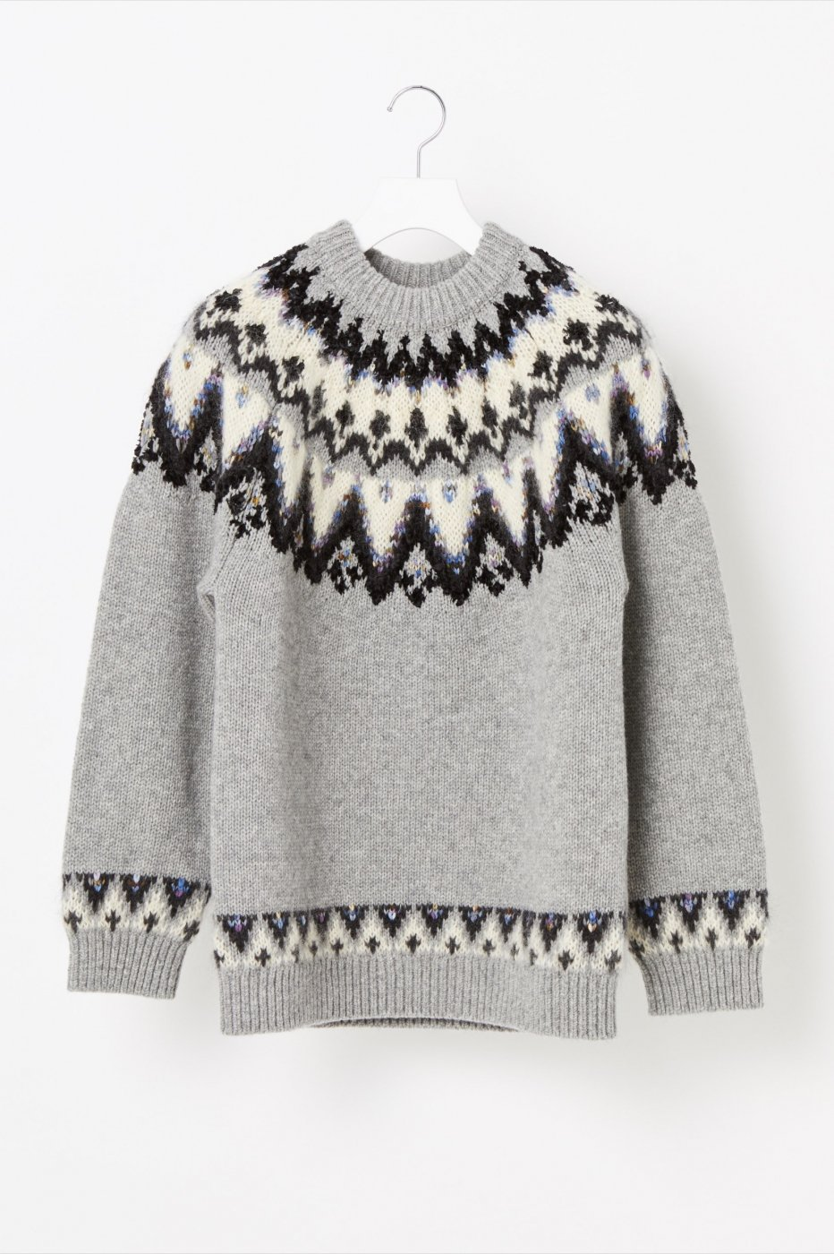 <img class='new_mark_img1' src='https://img.shop-pro.jp/img/new/icons8.gif' style='border:none;display:inline;margin:0px;padding:0px;width:auto;' />COOHEM コーヘン-NORDIC KNIT SWEATER-GREY