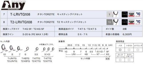 富士工業 チタンTORZITE キャスティングバスセット T-LRVTG108