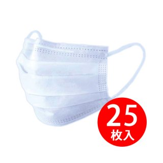 【6/3入荷予定】高機能マスク 不織布3層 PFEマスク 25枚入(5枚入×5) レギュラーサイズ
