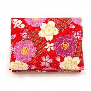 総柄2つ折りティッシュケース <br>【花桜】