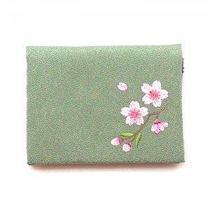 刺繍ティッシュケース(枝桜)