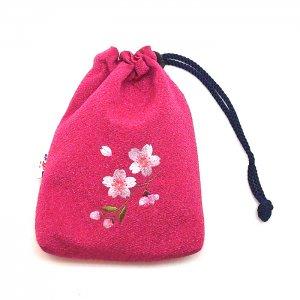 刺繍ミニ巾着(枝桜)