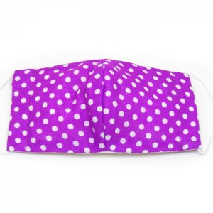 洗える布マスク・紫ドット