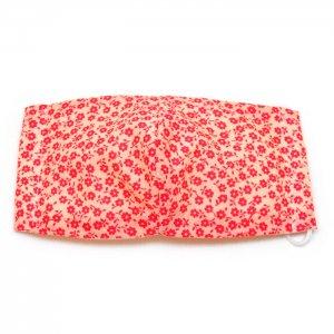 洗える布マスク・赤小花