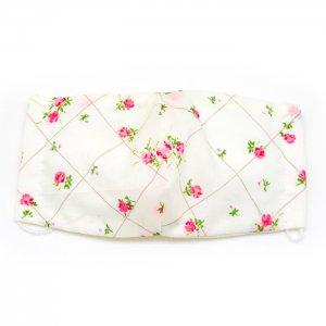 洗える布マスク・白菱花