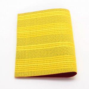 抗菌・抗ウイルス素材使用  マスクケース「マスくるん」   横縞 / 黄色
