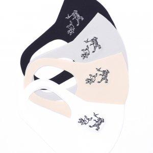 軽くてサラサラ  ここちいいマスク  刺繍入り / 鳥獣戯画