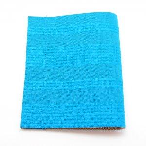 抗菌・抗ウイルス素材使用  マスクケース「マスくるん」   横縞 / 水色