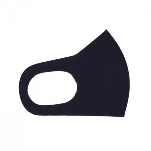 さらりとした肌触りが気持ちいい 心地いいマスク  無地 / 黒