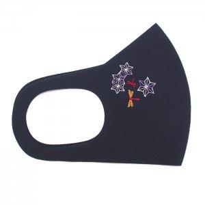 ここちいいマスク  刺繍入り / 麻の葉赤とんぼ