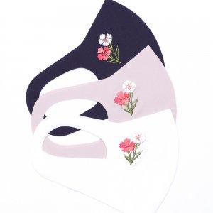 軽くてサラサラ  ここちいいマスク  刺繍入り / なでしこ
