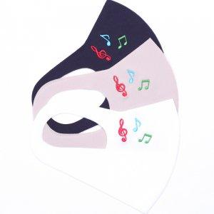 軽くてサラサラ  ここちいいマスク  刺繍入り / 音符