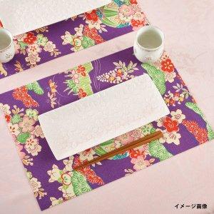 ランチョンマット  着物柄 / 紫