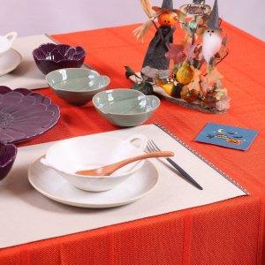 テーブルクロス  シャドーストライプ / オレンジ