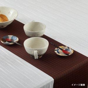 テーブルランナー  クロスライン / ブラウン