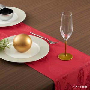 テーブルランナー  リーフ / レッド