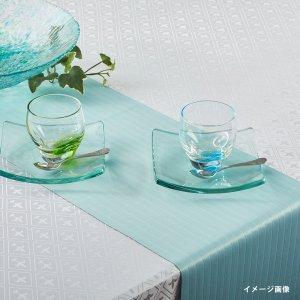 テーブルランナー  ストライプ / ターコイズ